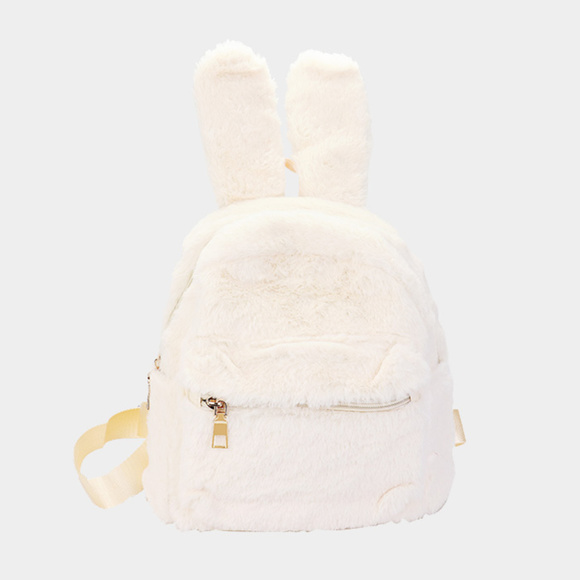cd32e7d82cc8 New Bunny Ear Fluffy Faux Fur Mini Backpack